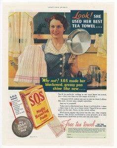 Look! She used her best tea towel