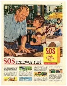 S.O.S removes rust ad