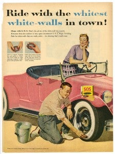S.O.S Ride with the whitest white-walls in town ad