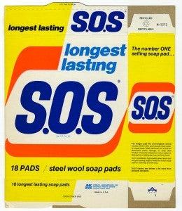 Longest lasting S.O.S Soap pads box