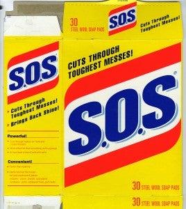 S.O.S 30 Steel Wool Soap Pads