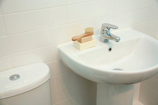 How To Clean Your Bathroom Shower Tub Sink SOS SOS - Remove stains from bathroom sink